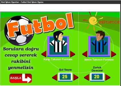 Futbol Dört işlem Oyunu